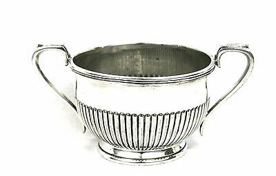 Early 20th C. Silver Plated Large Sugar Bowl Demi Reed Queen Anne Style