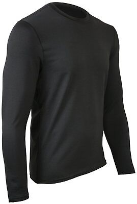 Polarmax Men's Long Sleeve Crew Shirt (Large) Black