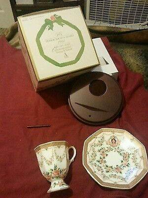 Avon 1994 Honor society award. Cup Saucer and wood stand.