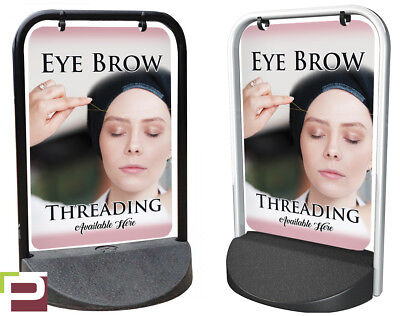 Eye Brow Threading PAVEMENT SIGN Swinger, ADVERTISING, A-Board, Hair, Beauty
