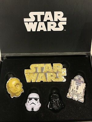 Sdcc 2017 Star Wars Disney Store Japan 5 Piece Pin Set Exclusive Darth Vader Htf
