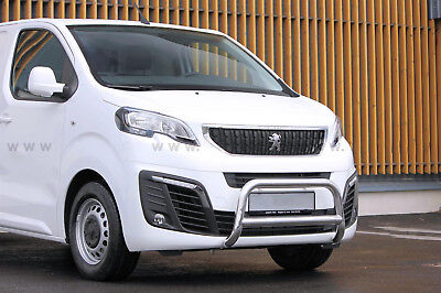 Peugeot Expert 2016-  Pare Buffle Homologue Inox 70Mm