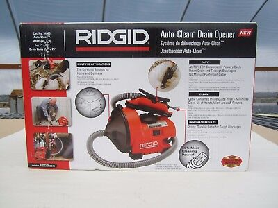 Free Ship,  RIDGID Auto-Clean K-30 Sink, Tub and Shower Drain Cleaner