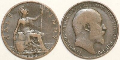 1902 to 1910 Edward VII Bronze Halfpenny Your Choice of Date