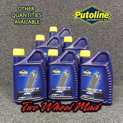 Putoline Coolant NF 6 x 1L bottles - Ready mixed formula Protects down to -38°C