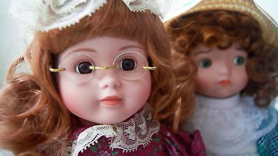 Vintage The Heritage Mint LTD Collection Porcelain Dolls Lot Kelly & Courtney