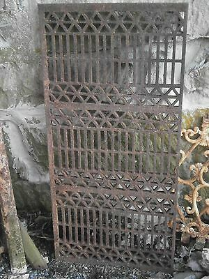 Victorian Eastlake Architectural Cast Iron Large Grate Driveways, Walkways