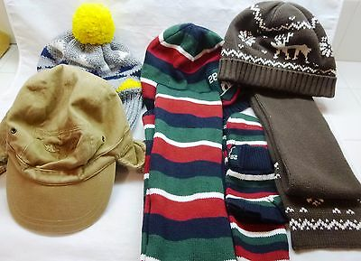 Gymboree-Lot Of Boys Winter Hats-Beanies, Scarves, Mittens-Size 5-7 & 8