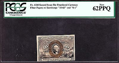 US 50c Fractional Currency Note FR 1320 PCGS 62 PPQ Ch CU