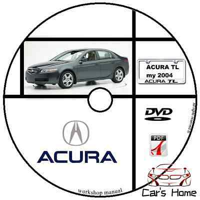 Manuale Officina Acura Tl My 2004 Workshop Manual Service Dvd