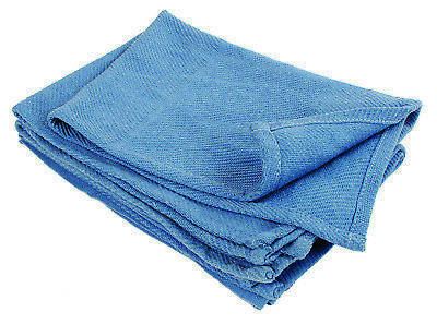 50  Blue Glass Cleaning Towels Blue Huck Surgical Detailing Glass H*