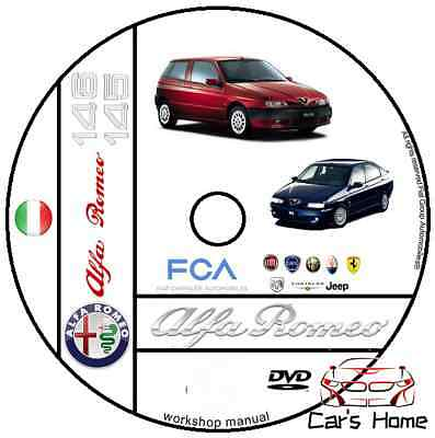 Manuale Officina Alfa Romeo 145 - 146 My 1995 - 2001 Workshop Manual Service Dvd
