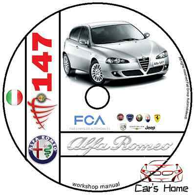 Manuale Officina Alfa Romeo 147 My 2000 - 2010 Workshop Manual Service Dvd