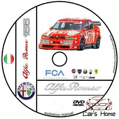 Manuale Officina Alfa Romeo 155 My 1992 - 1997 Workshop Manual Service Dvd