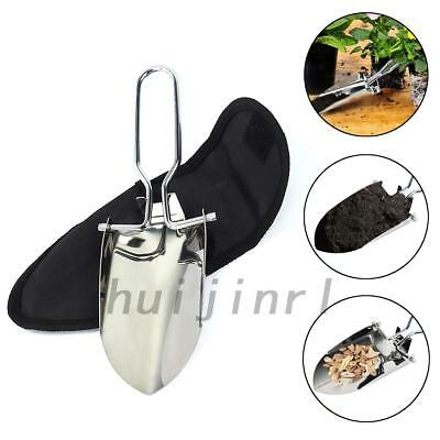 Foldable Garden Trowel Outdoor Survival Spade Camping Shovel Stainless Steel