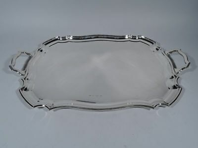 George V Tray - Antique Serving Tea - English Sterling Silver - 1929