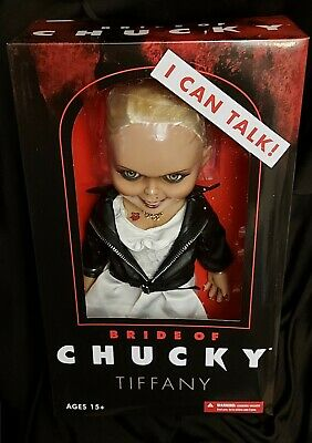 "Bride of Chucky Talking 15"" Tiffany Mega scale action figure with sound (MEZCO)"