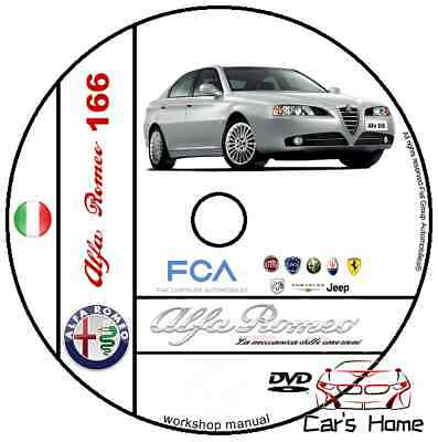 Manuale Officina Alfa Romeo 166 My 1998 - 2007 Workshop Manual Service Dvd