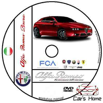 Manuale Officina Alfa Romeo Brera My 2002 - 2010 Workshop Manual Service Dvd