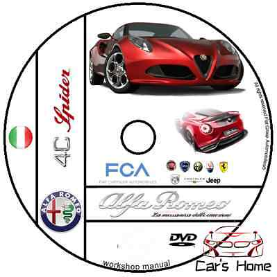 Manuale Officina Alfa Romeo 4C My 2013 Workshop Manual Service Dvd