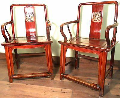 Antique Chinese Ming Arm Chairs (5778), Circa 1800-1849
