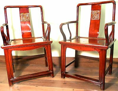 Antique Chinese Ming Arm Chairs (5763), Circa 1800-1849