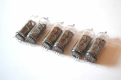 6pcs IN-14 Nixie Tubes small pins for Clock! Used, Tested