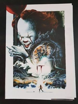 """""""IT"""" 2017 Stephen King Movie Poster, Pennywise, A3, 30 x 42cm, NEW"""