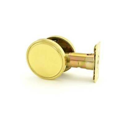 MaxGrade 6753 One Sided Deadbolt With Plate Bright Brass Finish With Adjustable
