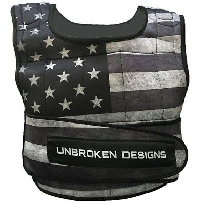 Stars and Stripes Cropped 20lb Weight Vest Unbroken Designs Crossfit Fitness