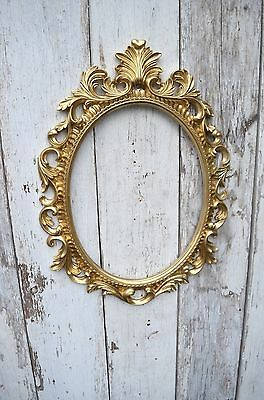 Gold Baroque Oval Frame French Style Open back Ornate Wedding Portrait