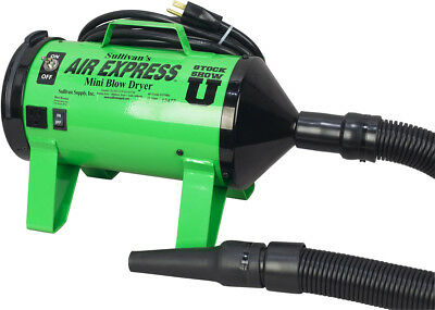 Sullivan Supply Air Express Mini Blow Dryer for Livestock Grooming Lime Green