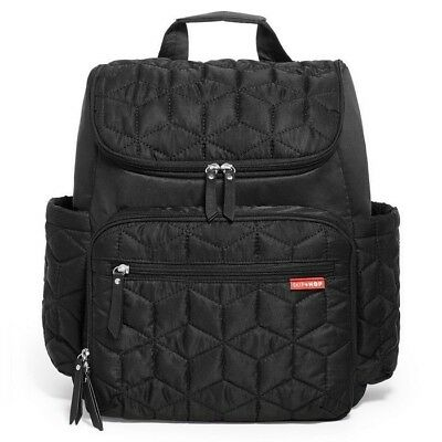 Skip Hop Forma Backpack Diaper Bag - Black-Include Insulated cube