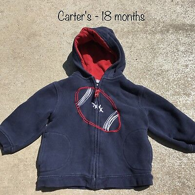 Boys Infant Apparel Football Lightweight Coat Hooded Jacket 18 Months
