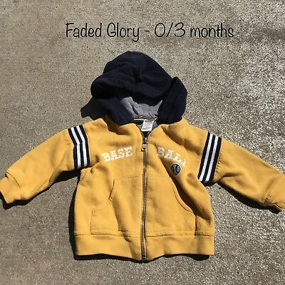 Boys Infant Apparel Baseball Lightweight Coat Hooded Jacket 0/3 Months