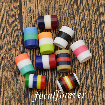 10pcs Colorful Strip Dreadlock Beads Tubes Decor Ornement For Hair Hairstyle