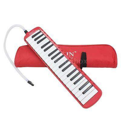 37 Piano Keys Melodica Pianica Musical Instrument w/ Bag for Students Red U0Q8