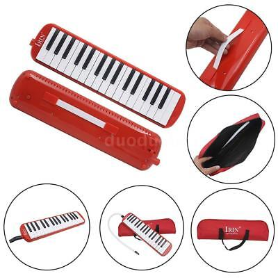 32 Piano Keys Melodica Musical Education Instrument for Beginner Red P7S4