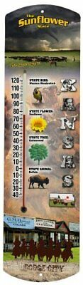 Heritage America by MORCO 375KS Kansas Outdoor or Indoor Thermometer