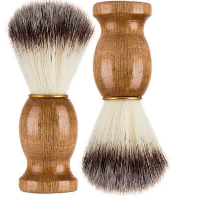 Men Shaving Bear Brush Best Shave Wood Handle Razor Barber Tool Professional