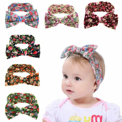 6PCS Kids Girl Baby Toddler Infant Flower Headband Hair Bow Band Accessories NEW