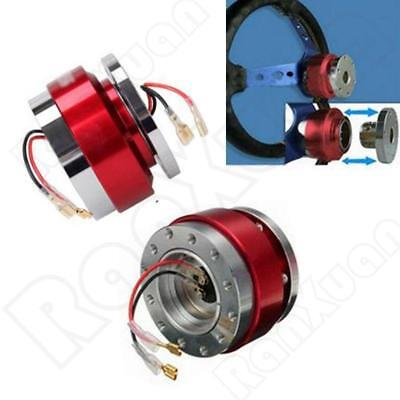 Universal Car Steering Wheel Quick Release Hub Adapter Snap Off Boss Kit Red New