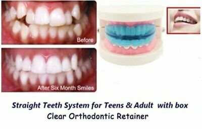 2018 Straight Teeth System for Teens Adults Orthodontic Retainer box cleaning ON
