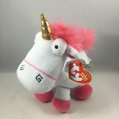 "TY 6"" Beanie Baby Plush Toy Stuffed Animal - FLUFFY (Unicorn) (Despicable Me 3)"