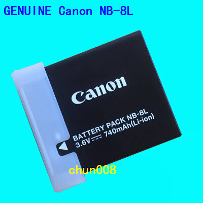 Genuine Canon NB-8L NB8L Battery for PowerShot A2200 A3100 A3300 A3200 CB-2LAE