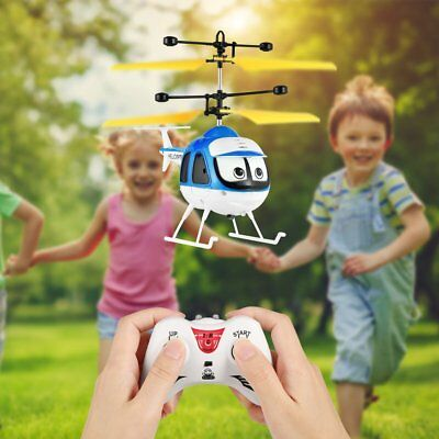 Induction Flying Toys RC Helicopter Cartoon Remote Control Drone Kid Plane Toy J