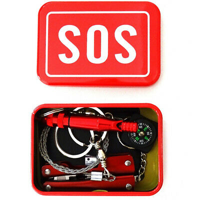 Sos Survival Tool Emergency Outdoor Camping Kit Gear Hiking Emergency Camping To