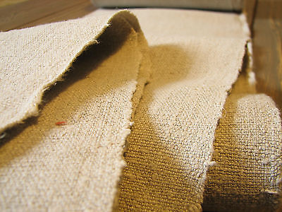 4 Yards Antique HandWoven Old Linen Flax Homespun Vintage Fabric Grain Sack
