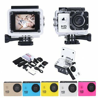 Waterproof Full HD 1080P 12MP Car Cam Sports Action Hiking Camera DV Camcorder