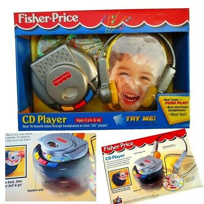 Baby Toddler Kid Child Pretended Play CD Player Music Melody Tunes Headphone Toy